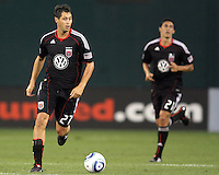 New signings Branko Boskovic #27 and Pablo Hernandez #21 of D.C. United during an MLS match against Seattle Sounders FC at RFK Stadium on July 15 2010, in Washington DC.Seattle won 1-0.