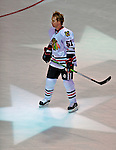 24 January 2009: Chicago Blackhawks defenseman Brian Campbell warms up prior to the NHL SuperSkills Competition, part of the All-Star Weekend at the Bell Centre in Montreal, Quebec, Canada. ***** Editorial Sales Only ***** Mandatory Photo Credit: Ed Wolfstein Photo