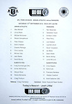 Official teamsheet for Annan Athletic v Rangers 15th September 2012