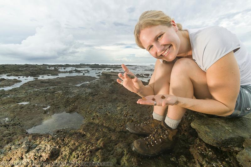 Exploring the Pacific coast beach of Costa Rica, Central America.