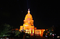Texas State Capitol built 1888 of 'sunset red' pink granite from a Granite Mountain Quarry in Marble Falls - largest of all state capitols - second only in size to National Capitol in Washington DC but surpasses National Capitol in height - Austin, Texas