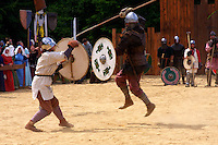 Battle Reenactment at the Freisen Medival fest - Who needs jousting when you can have this?