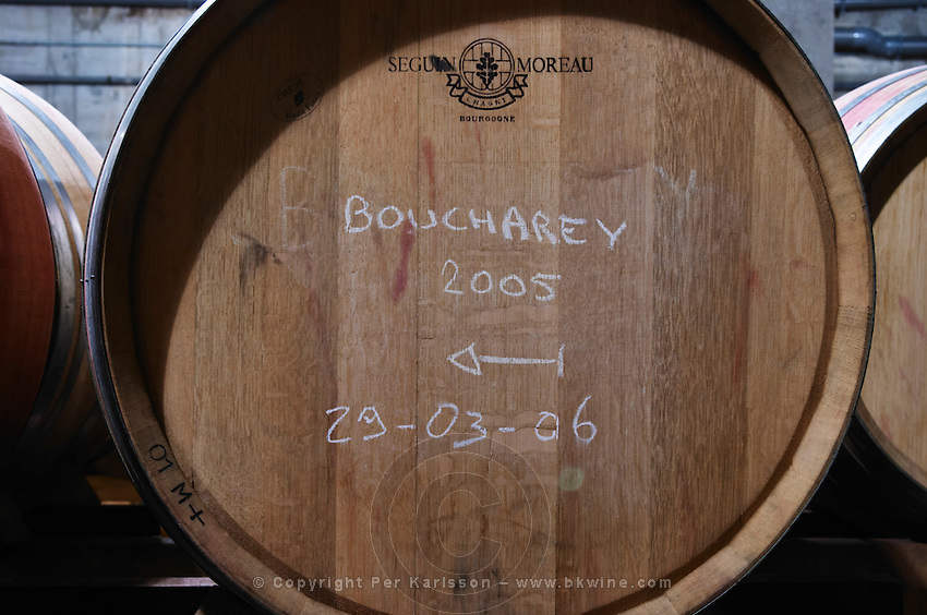 barrel marked boucharey 2005 domaine bonserine ampuis rhone france