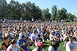 Students gathered on Haggin Field for FUSION on Monday, August 22, 2011 in Lexington, Kentucky.  It was the most participated in FUSION yet with 1,384 volunteers. Photo by Latara Appleby | Staff