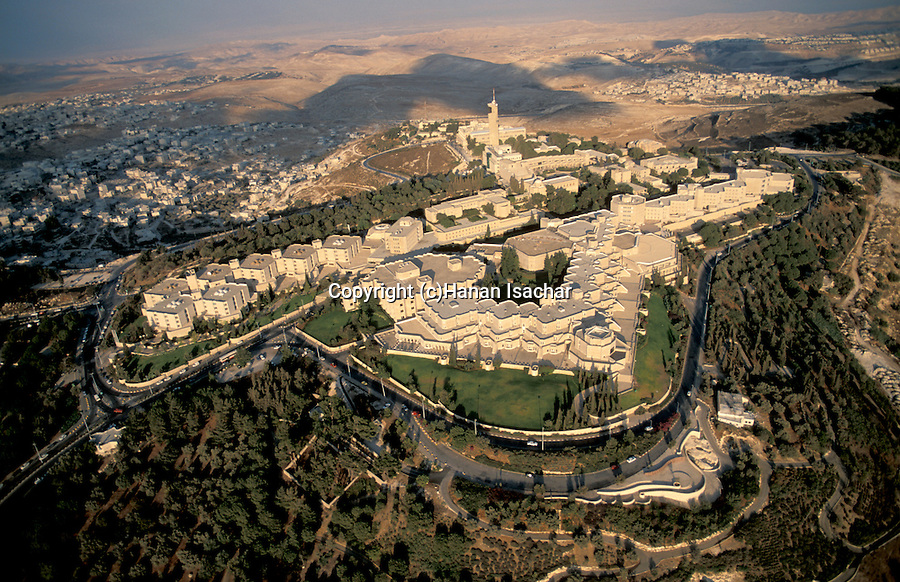 Israel, Jerusalem, an aerial view of Brigham Young University center on Mount Scopus