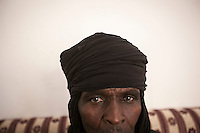 November 22, 2014 - Murzuq, Libya: Tebu tribal member from the local council in Murzuq. Fighting around Southwest Ubari region ignited after Tuareg militias from Mali and Libya sized control over the vast oilfield installations aligned with the Third Force of Misrata armed forces. Since then raged battles have taken place between two factions: one faction of Tuareg fighters lead by Third Force from Misrata pushing to clean the region from the other faction of Tebu tribal fighters defending their controlled territory. (Photo/Narciso Contreras)