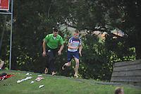 FIERLJEPPEN: IT HEIDENSKIP: 09-07-2014, Age Hulder, ©foto Martin de Jong
