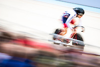 Picture by Alex Whitehead/SWpix.com - 06/03/2016 - Cycling - 2016 UCI Track Cycling World Championships, Day 5 - Lee Valley VeloPark, London, England - Great Britain's Laura Trott in action during the Women's Omnium Flying Lap.