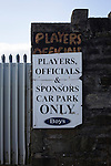 Bacup Borough 4 Holker Old Boys 1, 25/04/2016. Brain Boys West View Stadium, NorthWest Counties League Division One. An players and officials sign outside the Brain Boys West View Stadium before Bacup Borough play Holker Old Boys in a NorthWest Counties League division one fixture. Formed as Bacup in 1879, the club moved into their current home in 1889 and have been known as Bacup Borough since the 1920s, apart from a brief recent spell when they added the name Rossendale to their name. With both teams challenging for play-off places, Bacup Borough won this fixture by 4-1, watched by a crowd of 50. Photo by Colin McPherson.