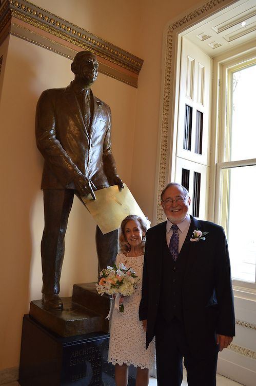 JUNE 9, 2015: Congressman Don Young (R-AK), who has represented the state of Alaska since 1973, wed his fiancée Anne Garland Walton, a registered flight nurse from Fairbanks, AK, in a private ceremony held today in the chapel of the U.S. Capitol. Reverend Patrick J. Conroy, S.J. – Chaplain of the House of Representatives – performed the civil ceremony today on what was also Congressman Young's 82nd birthday.