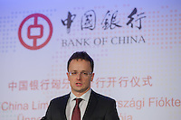 Bank of China office opening ceremony in Budapest, Hungary on December 18, 2014. ATTILA VOLGYI