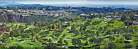 MountainGate, Golf Course, Helicopter, View, Greens, Fairways, Bunkers, Trees, Santa Monica, Mountains, Los Angeles California, Panorama ,Beautiful Background
