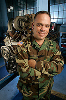 Slug: UMUC-Catalogue - McClellan.Date: 04-20-2005.Photographer: Mark Finkenstaedt For UMUC.Location: Fort Belvoir, Alexandria. Virginia.Caption: SSG. Lee McClellan 249th Engineer Battalion.