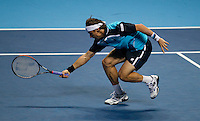 David Ferrer (ESP) (7) against Andy Murray (GBR) (5) in a Group B match. Andy Murray beat David Ferrer 6-2 6-2..International Tennis - Barclays ATP World Tour Finals - O2 Arena - London - Day 5 - Thu 25 Nov 2010..© Frey - AMN Images, Level 1, Barry House, 20-22 Worple Road, London, SW19 4DH.Tel - +44 208 947 0100.Email - Mfrey@advantagemedianet.com.Web - www.amnimages.photshelter.com