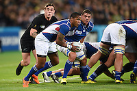 Eugene Jantjies of Namibia in possession. Rugby World Cup Pool C match between New Zealand and Namibia on September 24, 2015 at The Stadium, Queen Elizabeth Olympic Park in London, England. Photo by: Patrick Khachfe / Onside Images