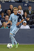 Chance Myers (7) defender Sporting KC in action..Sporting Kansas City defeated D.C Utd 1-0 at Sporting Park, Kansas City, Kansas.