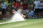May 8,2011 -J.B. Holmes hits out of the bunker at number six.  Lucas Glover wins the tournament in sudden death over Jonathan Byrd at Quail Hollow Country Club,Charlotte,NC.