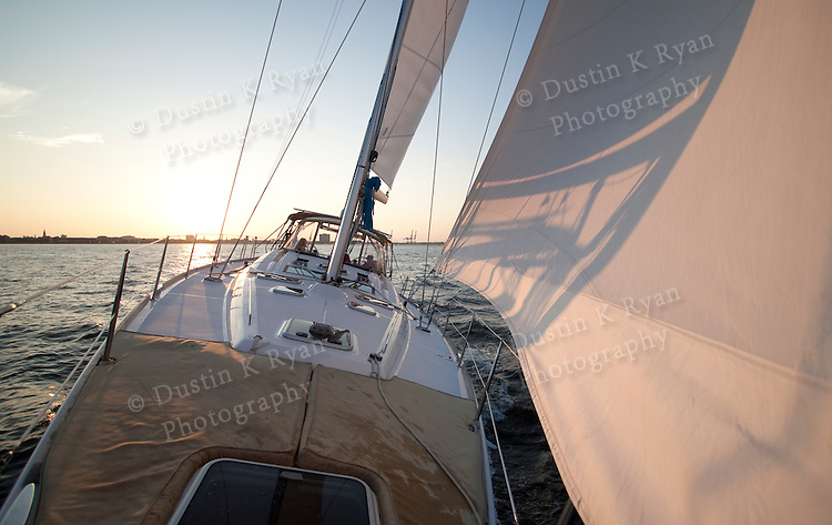 Sailboat sunset beneteau 49 charleston sc