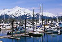 Cordova boat harbor, Prince William Sound, Alaska.