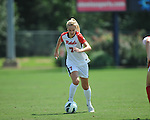Ole Miss' Bethany Bunker (7) vs. Louisiana-Lafayette in college soccer action at the Ole Miss Soccer Stadium in Oxford, Miss. on Sunday, August 26, 2012. Rafaelle Souza delivered her fourth goal of the season in the 12th minute for Ole Miss (4-0).