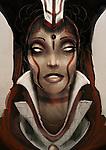 Tribal fantasy woman with headress