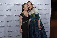 New York City, NY. October 20, 2014. Miki Orihara, Christine Jowers. The 30th anniversary of The Bessies, the New York Dance and Performance Awards, are held at the world famous Apollo Theatre in Harlem. Photo by Marco Aurelio/VIEWpress