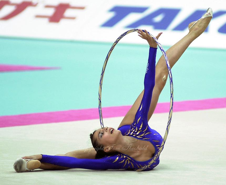 19991003_vit_t03_0052 - 3 OCTOBER 1999 - OSAKA, JAPAN: Elena  Vitrichenko performs at 1999 Rhythmic Gymnastics World Championships..Elena finished 5th in All-Around.  Copyright 1999 by Tom Theobald