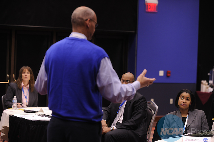 13 JAN 2011: The NCAA Pathway Program at the Grand Hyatt and Convention Center in San Antonio, TX. Stephen Nowland/NCAA Photos .Pictured: Monica Love, Peter Roby.