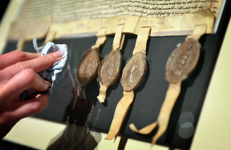 OBJECTS ON DISPLAY AS PART OF THE BRITISH LIBRARY'S MAGNA CARTA: LAW, LIBERTY,LECACY EXHIBITION OPENING ON MARCH 13TH.