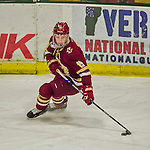 19 February 2016: Boston College Eagle Forward Ryan Fitzgerald, a Junior from North Reading, MA, in action during the first period against the University of Vermont Catamounts at Gutterson Fieldhouse in Burlington, Vermont. The Eagles defeated the Catamounts 3-1 in the first game of their weekend series. Mandatory Credit: Ed Wolfstein Photo *** RAW (NEF) Image File Available ***