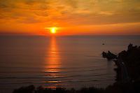 September 21, 2010, Sunset over the Cote des Basque, Biarritz, France.  Photo: joliphotos.com