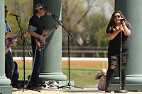 HOT SPRINGS, AR - MARCH 18: Singers perform in the infield before the running of the Rebel Stakes at Oaklawn Park on March 18, 2017 in Hot Springs, Arkansas. (Photo by Justin Manning/Eclipse Sportswire/Getty Images)