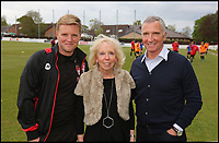 BNPS.co.uk (01202 558833)<br /> Pic: RichardCrease/BNPS<br /> <br /> Howe, Souness and Louis's mum Penny.<br /> <br /> Howe v Souness in the dugouts...<br /> <br /> Charity football match in aid of the Louis Ross Foundation held at Wimborne Town Football Club  with guest managers Eddie Howe and Graeme Souness taking charge of the  two teams made up of former school friends and football friends of Louis, 17, who died in a skiing accident in France.