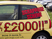 Under the UK government's Car Scrappage scheme, old bangers (wrecks) have a value of £2,000 when traded in for a brand new car.  In the credit crunch days when people were reluctant to spend, this scheme was enormously successful and persuaded thousands to buy a new car.