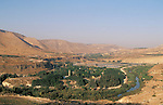 Jordan, the Yarmuk River. Hamat Gader, the Golan southern foothill on the left&amp;#xA;<br />