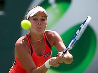 Agnieska RADWANSKA (POL) against Ekaterina Makarova (RUS) in the first round of the women's singles. Radwanska beat Makarova 7-5 6-0..International Tennis - 2010 ATP World Tour - Sony Ericsson Open - Crandon Park Tennis Center - Key Biscayne - Miami - Florida - USA - Thurs  25 Mar 2010..© Frey - Amn Images, Level 1, Barry House, 20-22 Worple Road, London, SW19 4DH, UK .Tel - +44 20 8947 0100.Fax -+44 20 8947 0117