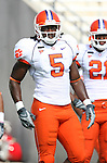 22 September 2007: Clemson's Rendrick Taylor. The Clemson University Tigers defeated the North Carolina State University Wolfpack 42-20 at Carter-Finley Stadium in Raleigh, North Carolina in an Atlantic Coast Conference NCAA College Football Division I game.