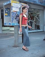 portrait of a woman on the street in the trendy neighbourhood condesa 05-04-04