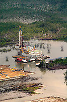 Shell operations in Niger Delta. Area around the Shell Soku gas terminal © Fredrik Naumann