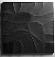Giovanni Barbieri 24x24 inch Shades carved tile in Dark Gray.