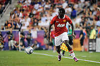 Mame Biram Diouf (32) of Manchester United. Manchester United defeated the MLS All-Stars 4-0 during the MLS ALL-Star game at Red Bull Arena in Harrison, NJ, on July 27, 2011.