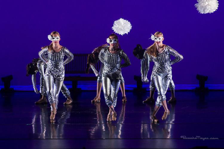 """3D Project Jazz Company, """"The Cracked Nut"""", Dress Rehearsal, Thurs., 17 Dec. 2015, Cary Arts Center, Cary, North Carolina."""