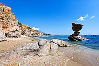 Rock formations at Liopessi near St. Peter in Andros, Greece