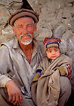 Grandfather and child, Askole village, Baltoro region, Pakistan