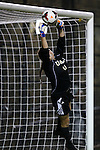 06 September 2013: UCLA's Katelyn Rowland makes a save. The University of North Carolina Tar Heels played the University of California Los Angeles Bruins at Koskinen Stadium in Durham, NC in a 2013 NCAA Division I Women's Soccer match. UNC won the game 1-0.