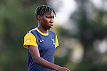 09 September 2016: West Virginia's Kadeisha Buchanan (CAN). The Duke University Blue Devils hosted the West Virginia University Mountaineers at Koskinen Stadium in Durham, North Carolina in a 2016 NCAA Division I Women's Soccer match. West Virginia won the match 3-1.