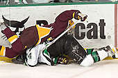Derek Peltier, Chris Porter - The University of Minnesota Golden Gophers defeated the University of North Dakota Fighting Sioux 4-3 on Saturday, December 10, 2005 completing a weekend sweep of the Fighting Sioux at the Ralph Engelstad Arena in Grand Forks, North Dakota.