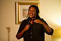 Harrogate, UK. 07.11.2012. Sitting Room Comedy plays host to MC Tom Tylor, Dana Alexander, Matt Welcome and Mark Maier. Picture shows: Dana Alexander.  Photo credit: Jane Hobson.