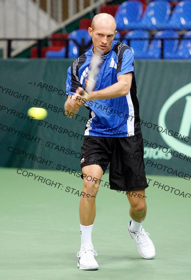 Tenis, Davis Cup.Russia Vs. Serbia.Training session.Nikolay Davydenko.Moskva, 02.06.2008..foto: Srdjan Stevanovic
