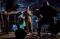 Jazz vocalist Kurt Elling performs on the WWOZ Jazz Tent stage on the last day at the New Orleans Jazz and Heritage Festival at the New Orleans Fair Grounds Race Course in New Orleans, Louisiana, USA, 3 May 2009.